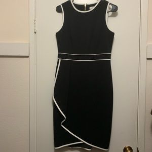 Calvin Klein Sleeveless Dress with Contrast Piping